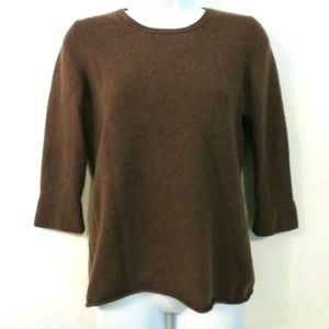 LL Bean 100% Cashmere sweater Brown Medium
